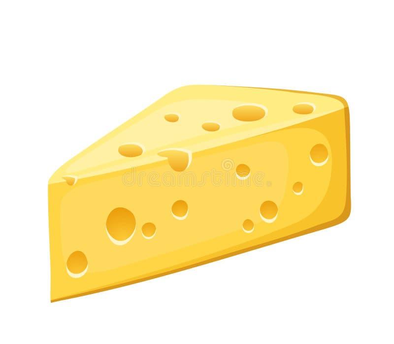 Morceau de fromage. illustration libre de droits