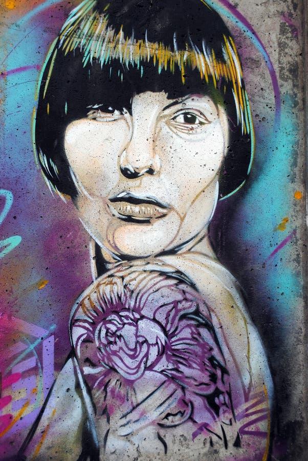 Morceau de graffiti à Oslo images stock