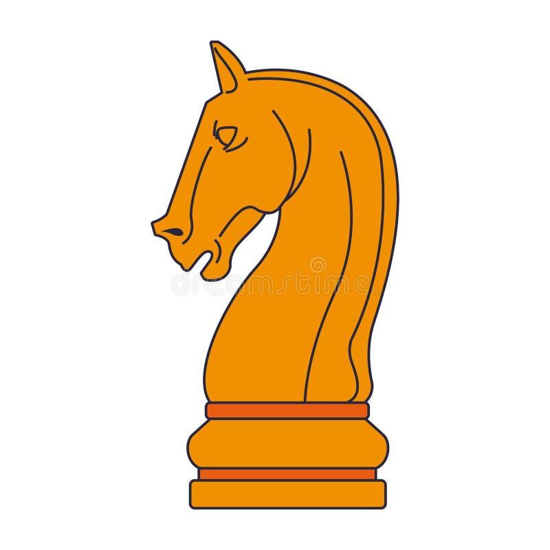 Morceau de jeu d'échecs illustration de vecteur