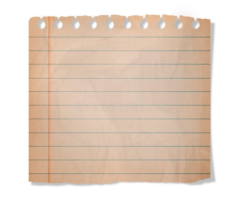 Morceau de papier photo libre de droits