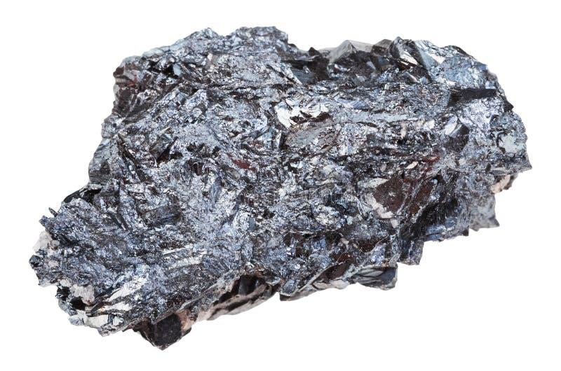 Morceau de pierre de minerai de fer d'hématite d'isolement photographie stock
