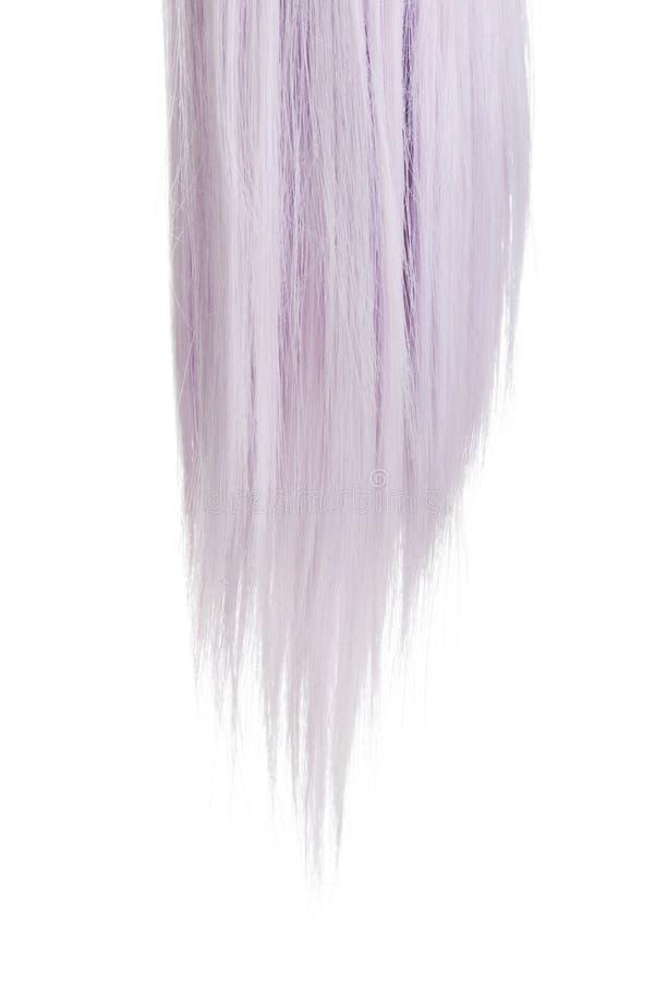 Morceau de plan rapproché de cheveux mauve de couleur image stock