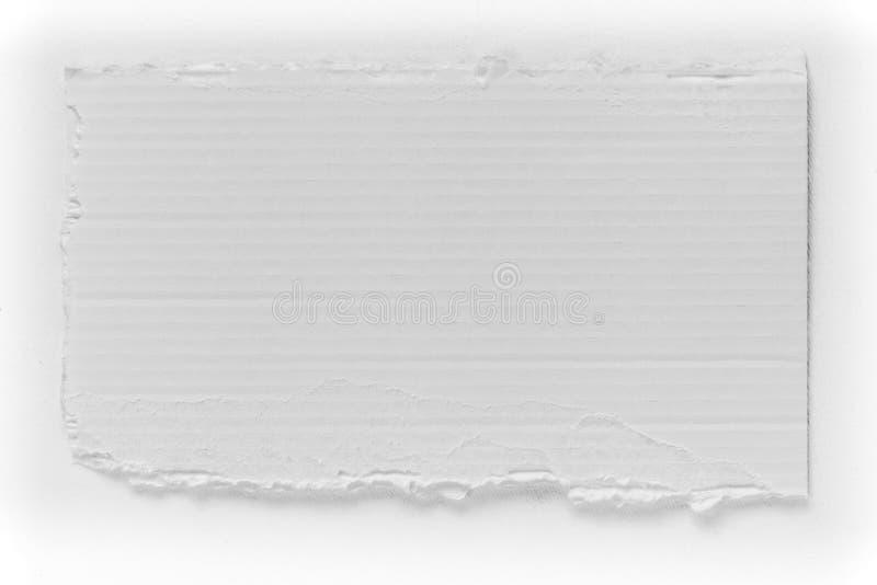 Morceau de texture blanche de larme de carton photos stock