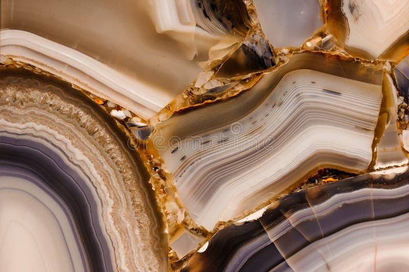 Morceau de texture polie d'agate images libres de droits