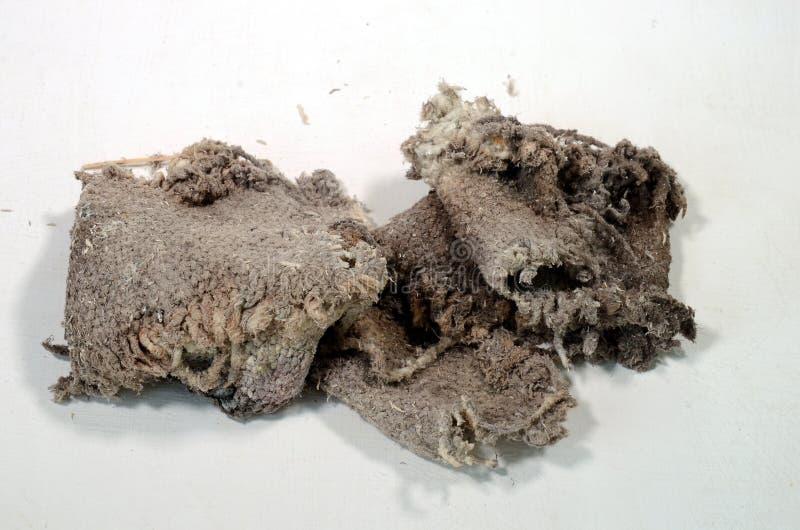 Morceau de tissu d'amiante photos libres de droits