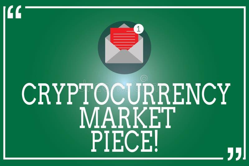 Morceau du marché de Cryptocurrency des textes d'écriture Capitaux de Digital de signification de concept qui peuvent être échang illustration stock
