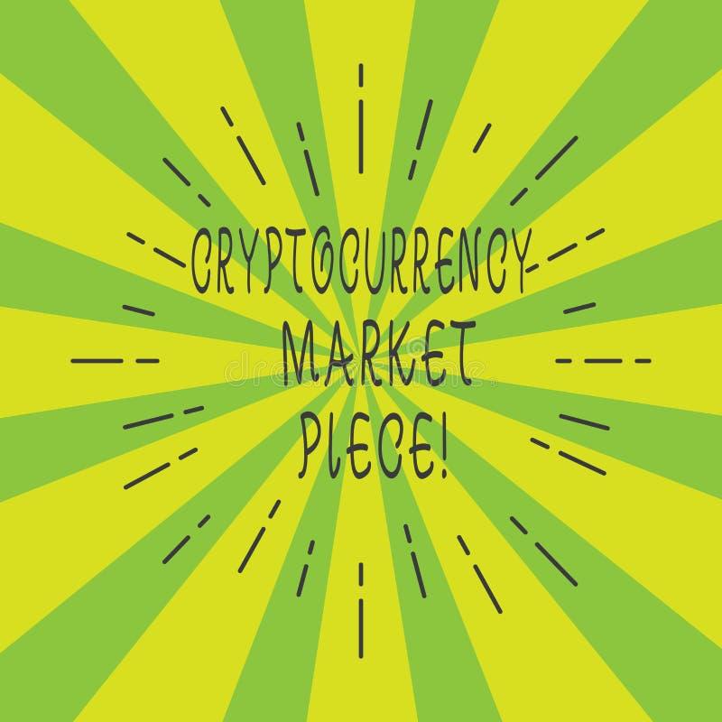 Morceau du marché de Cryptocurrency des textes d'écriture Capitaux de Digital de signification de concept qui peuvent être échang illustration libre de droits