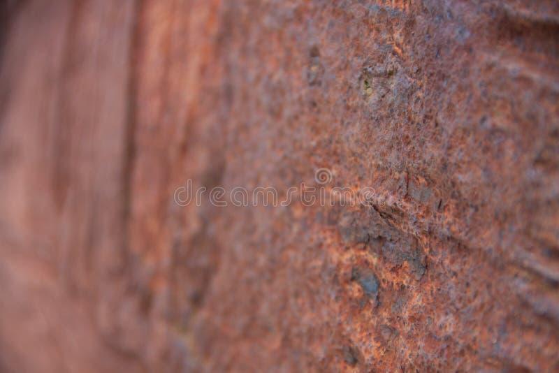 Morceau rouillé trouvé sur la plage image libre de droits