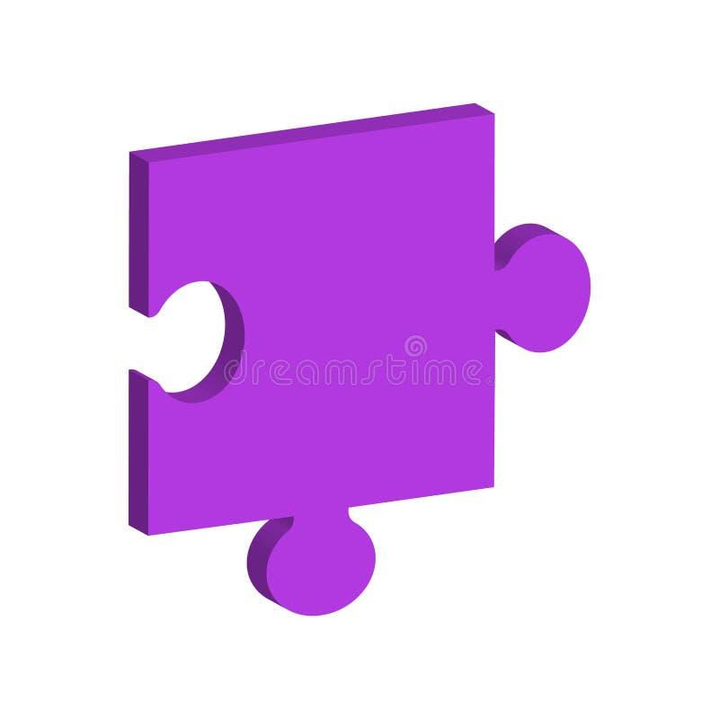 Morceau unidimensionnel de puzzle illustration libre de droits