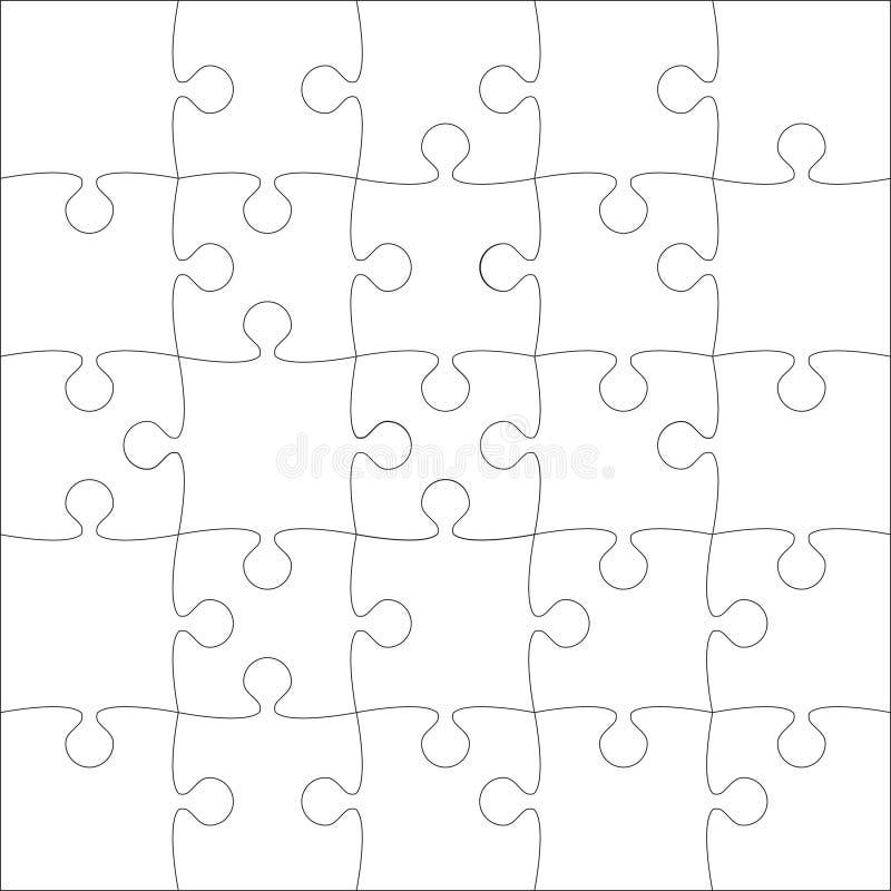 Morceaux blancs de puzzles de vecteur - puzzle - 25 illustration de vecteur