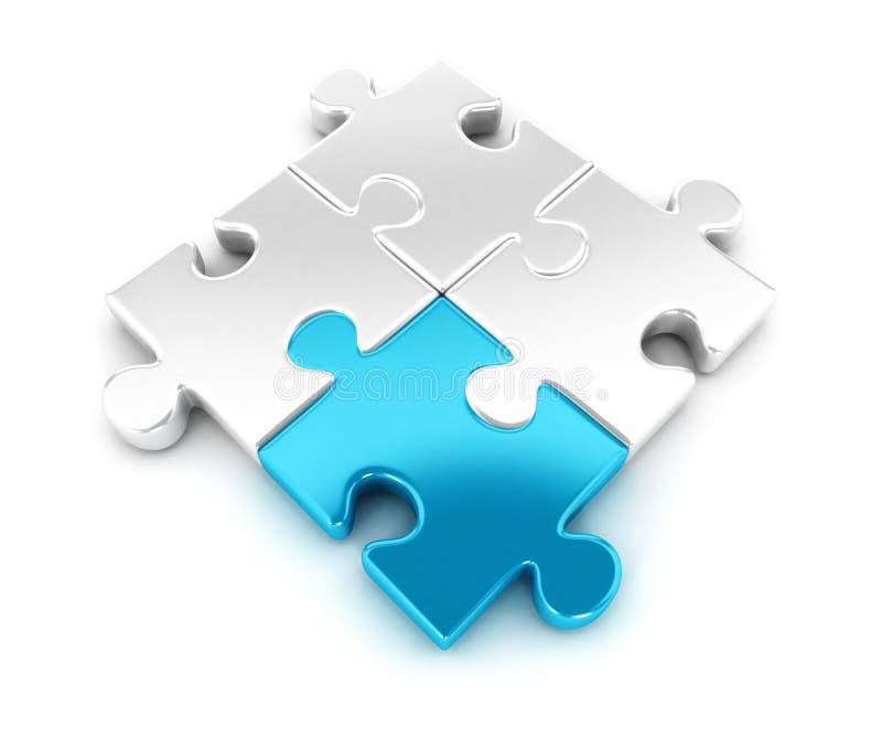 morceaux 3d de puzzle illustration de vecteur