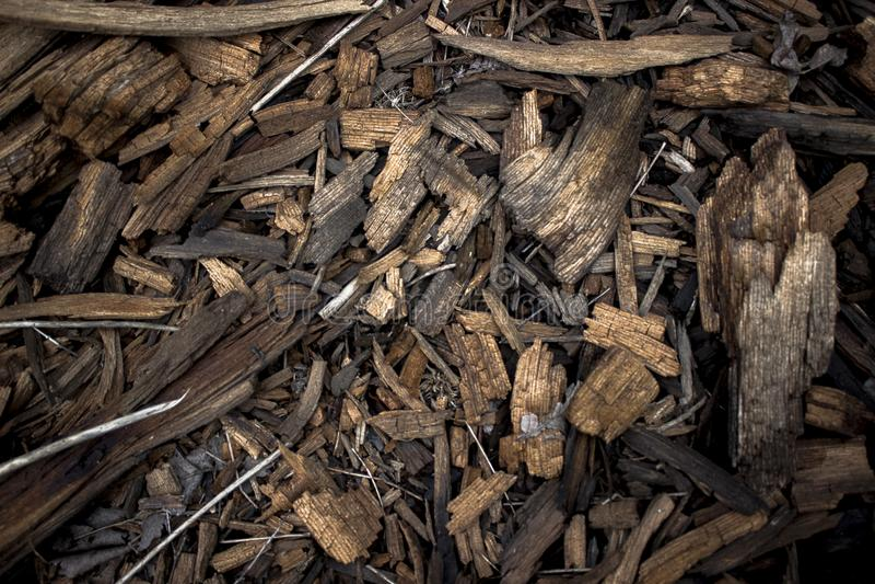 Morceaux de bois brûlé images stock