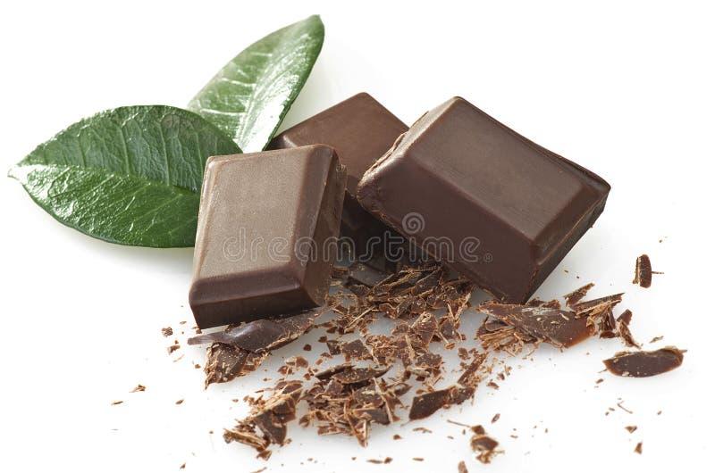 Morceaux de chocolat photo stock