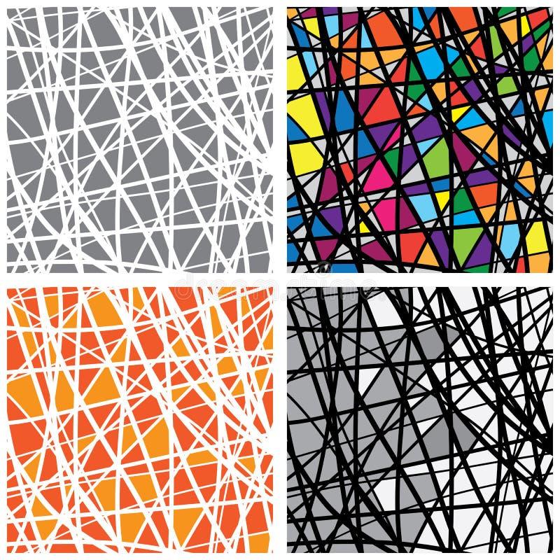 Morceaux de couleur en verre souillé de modèle de vecteur illustration stock