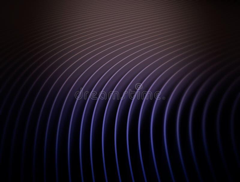 Morceaux de courbure abstraite de papier de recouvrement illustration de vecteur