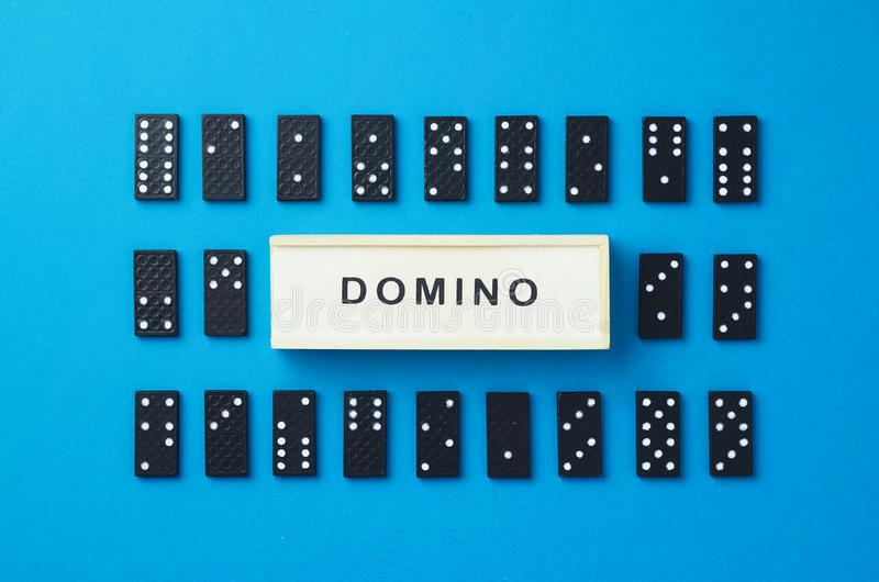 Morceaux de domino photos stock
