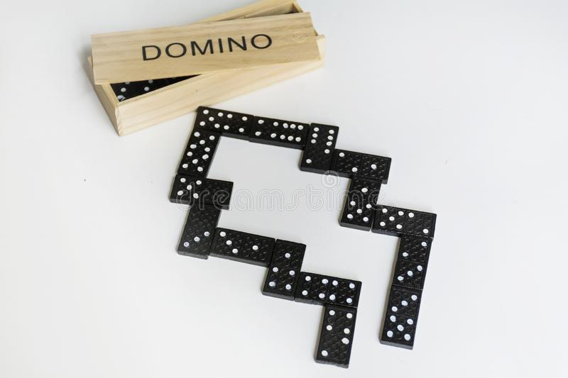 Morceaux de domino photos stock