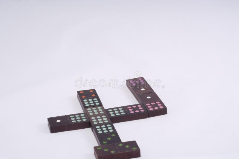 Morceaux de jeu de domino images libres de droits