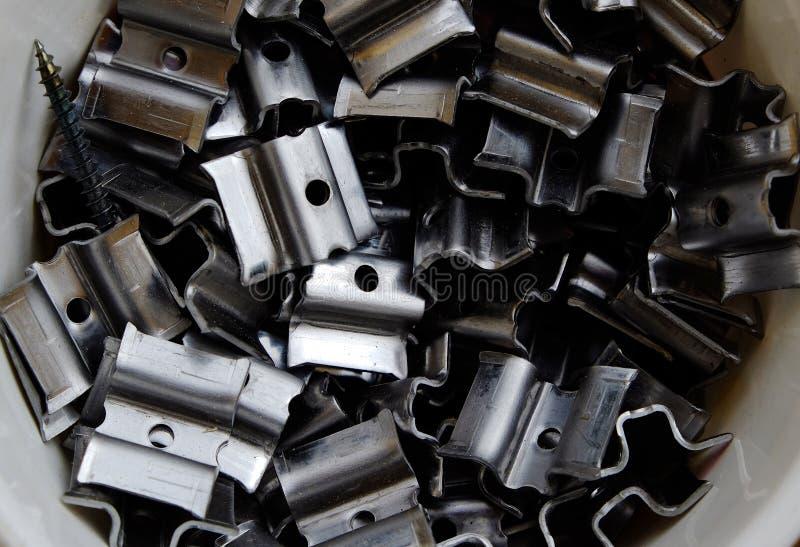 Morceaux de métal photographie stock