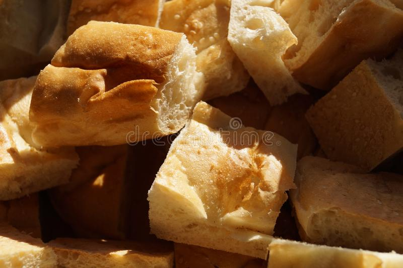 Morceaux de pain blanc images stock