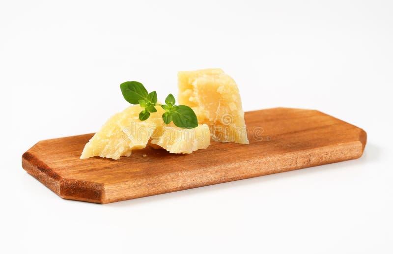 Morceaux de parmesan photo stock
