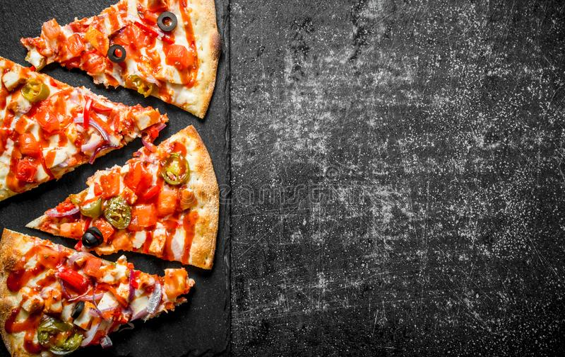 Morceaux de pizza mexicaine photo libre de droits