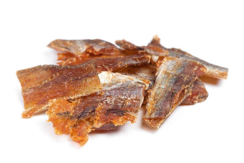 Morceaux de poissons séchés nettoyés image stock