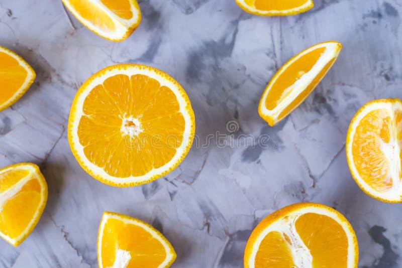 Morceaux divers d'oranges photographie stock libre de droits