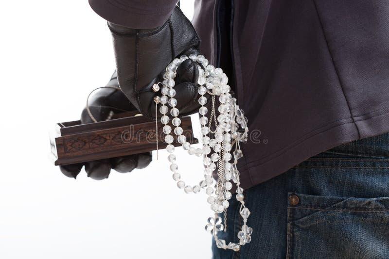 Morceaux volés de bijoux photographie stock libre de droits