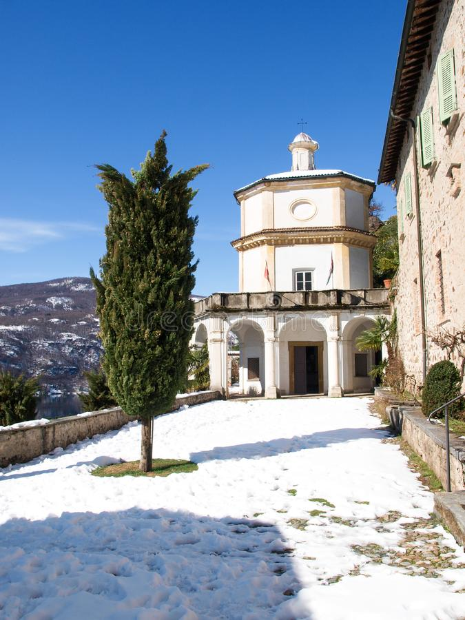 Morcote, église de Santa Maria del Sasso image libre de droits