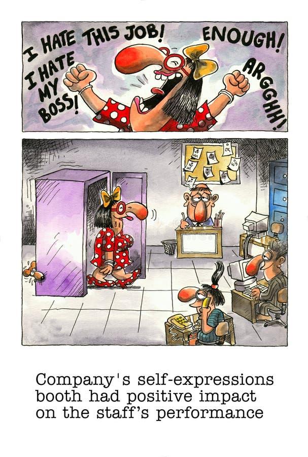 Mordaça dos desenhos animados sobre a vida do escritório ilustração do vetor