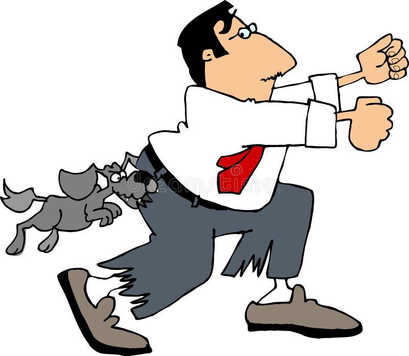 Mordedura de perro ilustración del vector