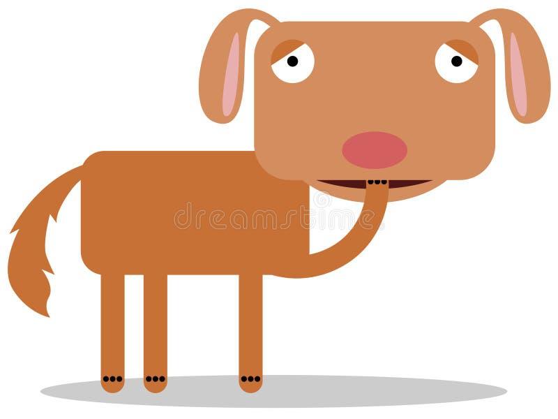Mordeduras del clavo del perro stock de ilustración