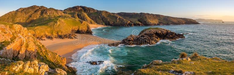 Morderstwo dziury plaża, Donegal Irlandia fotografia stock