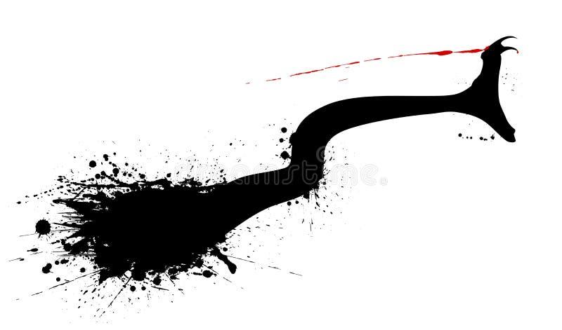 Mordida da serpente ilustração stock