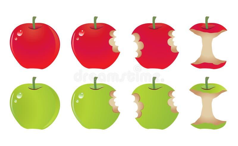 Mordida de Apple ilustração royalty free
