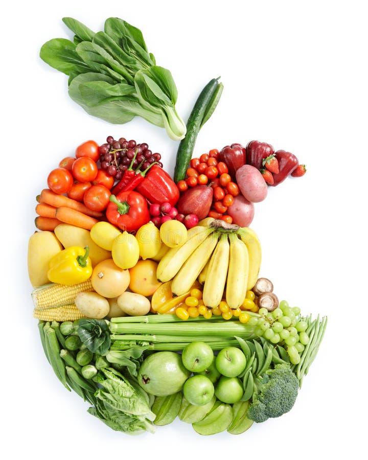 Mordida de Apple: alimento saudável imagens de stock royalty free