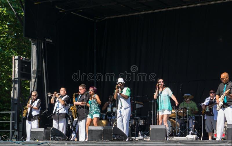 Mordida de Seattle Sonic Funk Orchestra foto de stock