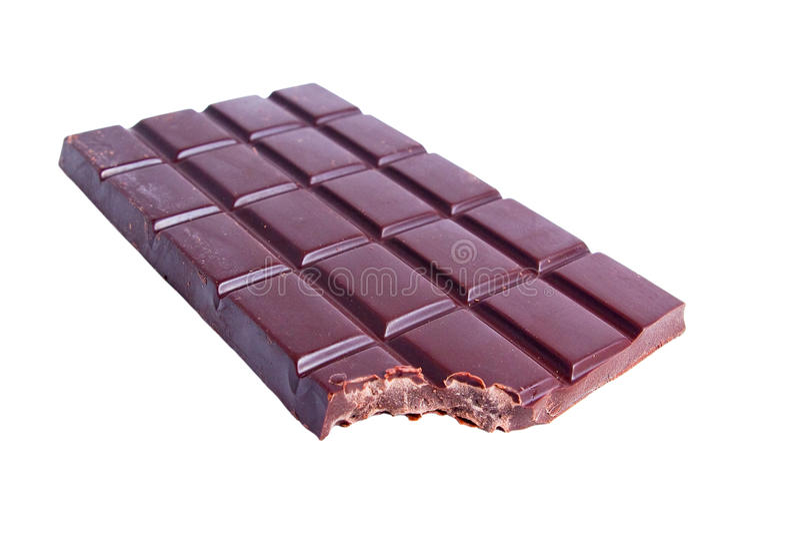 Mordida do chocolate imagem de stock