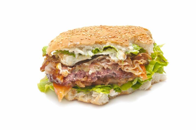Mordida do hamburguer imagens de stock royalty free