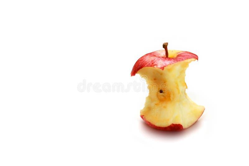 Mordida vermelha da maçã fotografia de stock