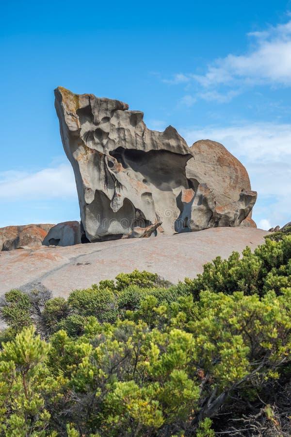 Mordiscado! Erosão incomum em rochas notáveis, ilha do canguru, Sul da Austrália foto de stock royalty free