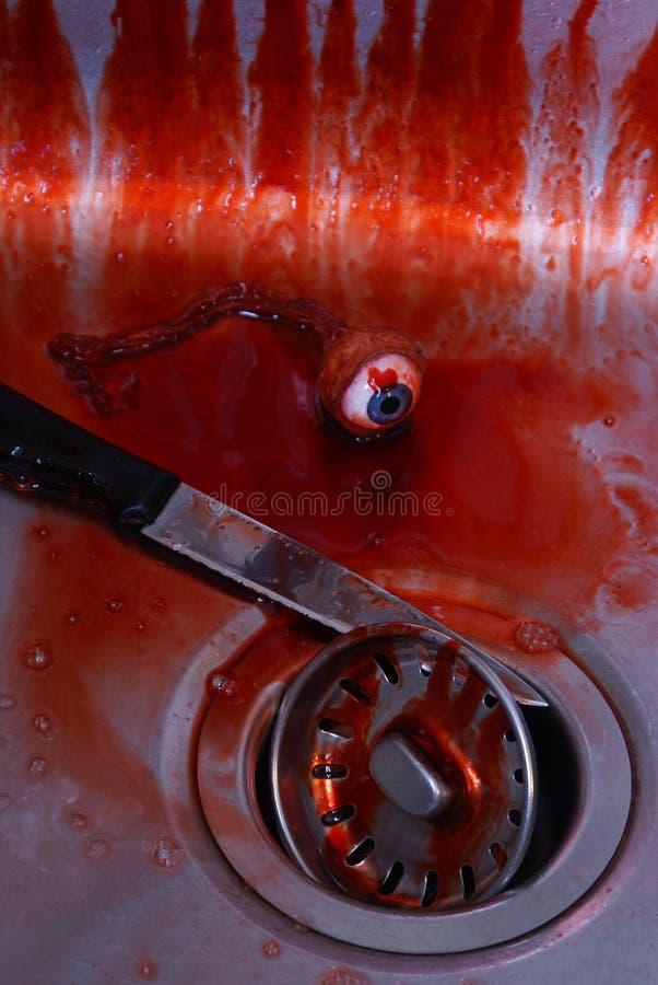 Mordplats på vasken fotografering för bildbyråer