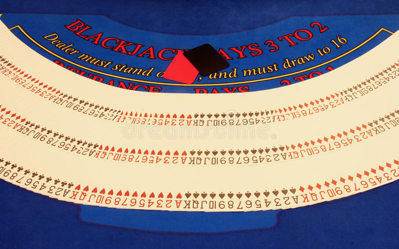 More cards on table in casino stock photography