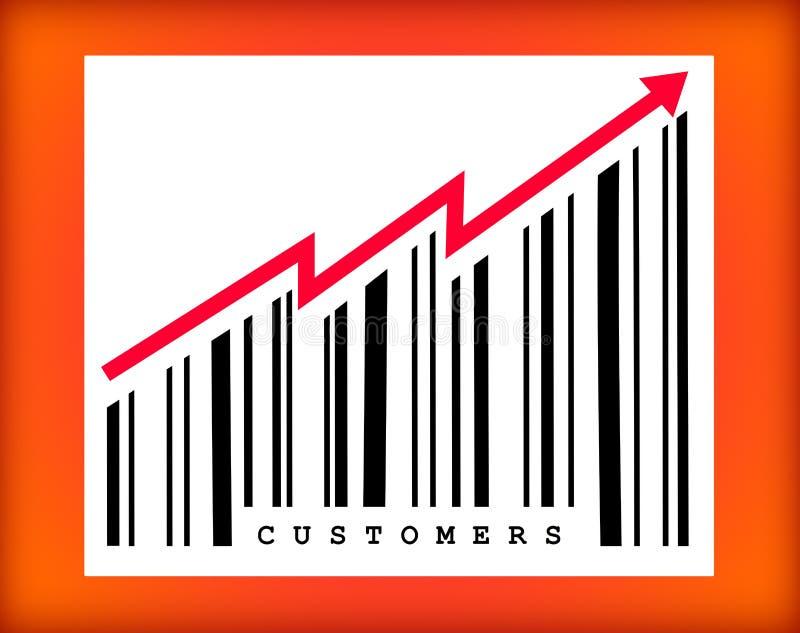 More customers stock illustration