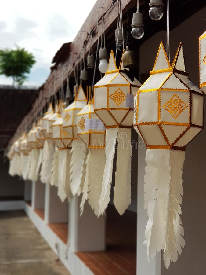 Northern lantern in temple royalty free stock images