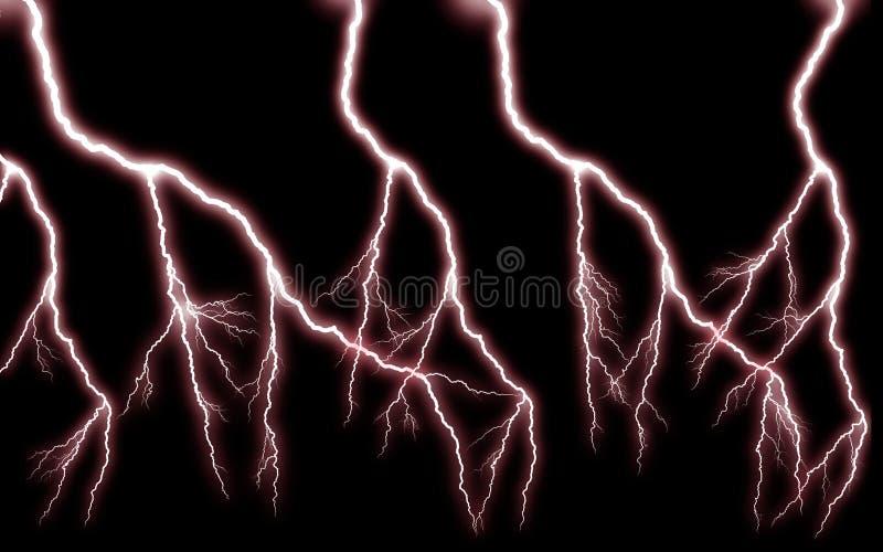 More lightning cascade power / Red horror stock image