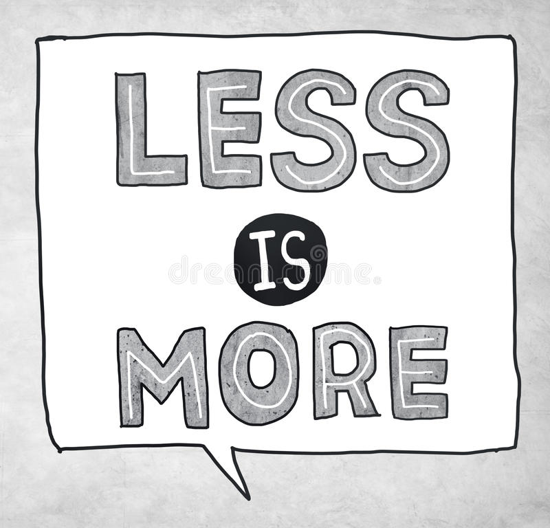 Less is More Minimal Simplicity Efficient Complexity Concept royalty free illustration
