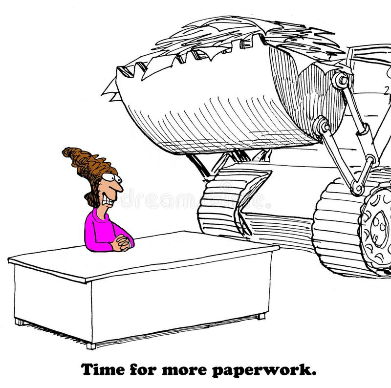 More Paperwork royalty free illustration