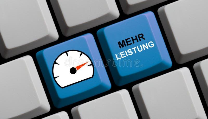 More Power german - Computer keyboard royalty free stock image